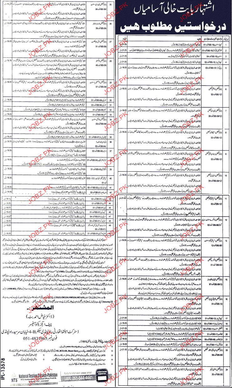 District Health Authority District Rawalpindi NTS Jobs