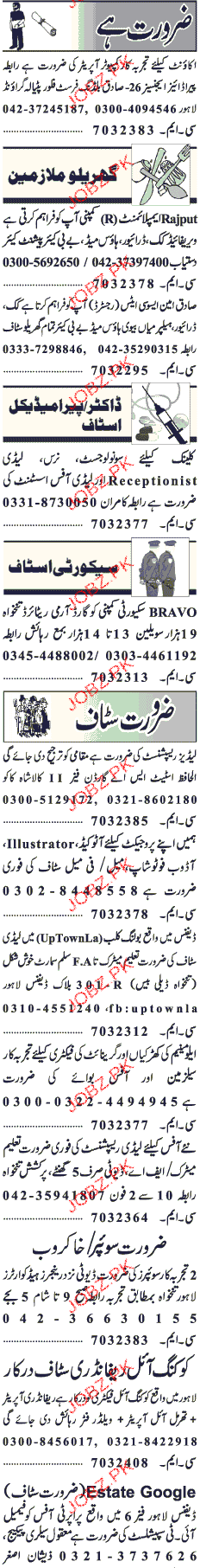 Computer Operators, House Miad, Clerks Wanted