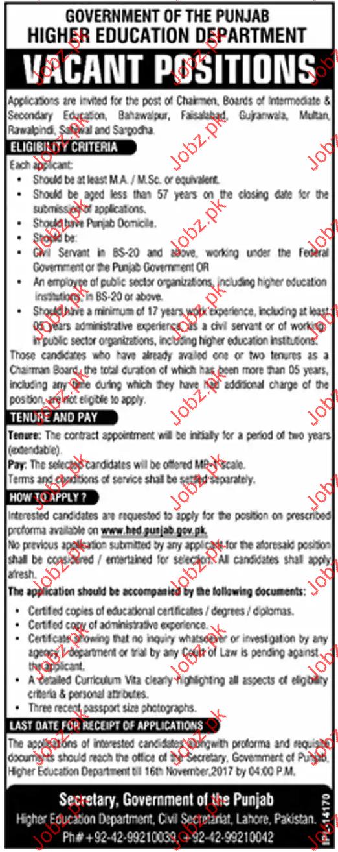Higher Education Department Jobs Opportunity 2019 Job ...