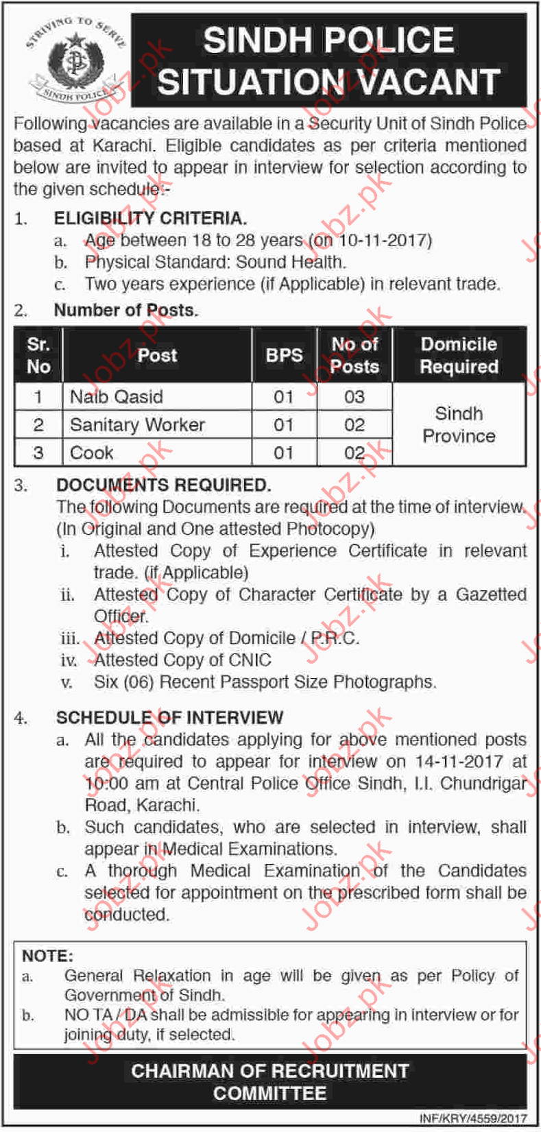Sindh Police Jobs 2017 Career Opportunity