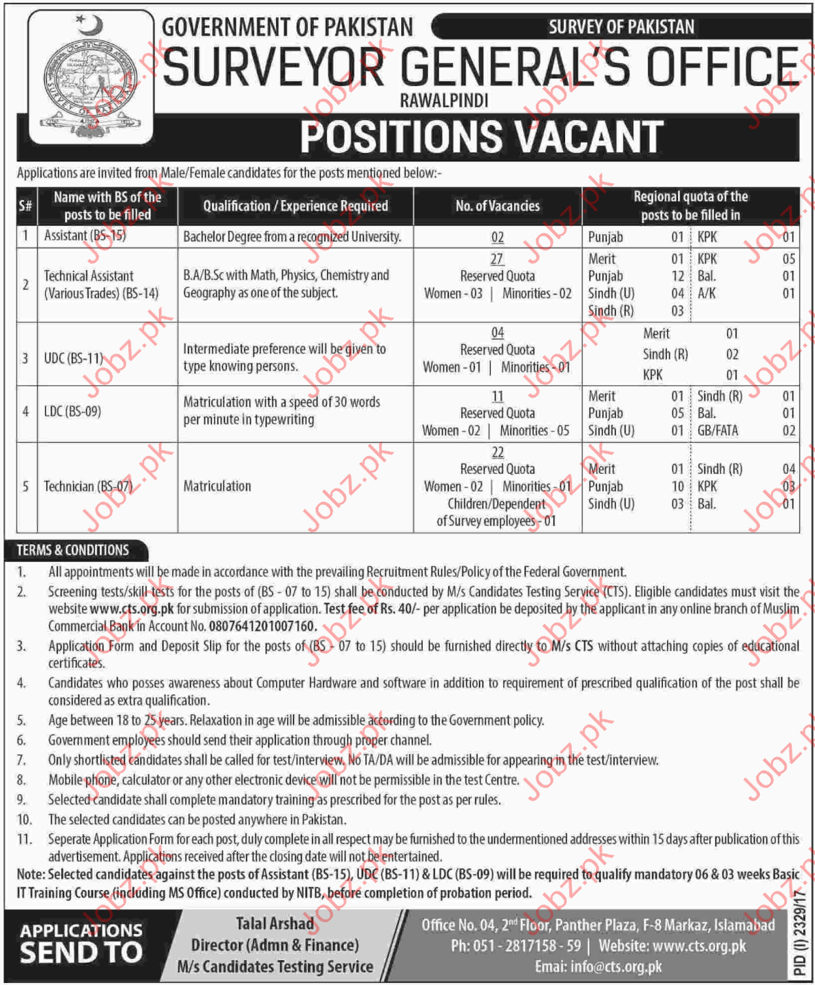 Survey of Pakistan Jobs 2017 SOP