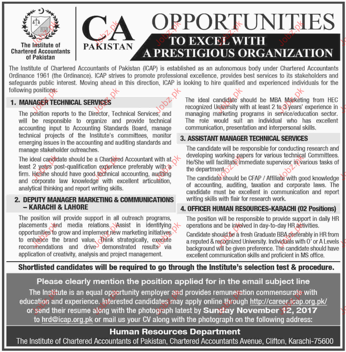 CA Pakistan Jobs Opportunity