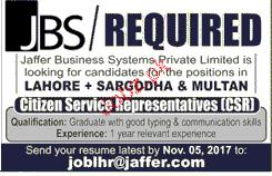 Citizen Representatives Job Opportunity