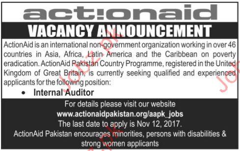 ActionAID Pakistan Jobs 2017