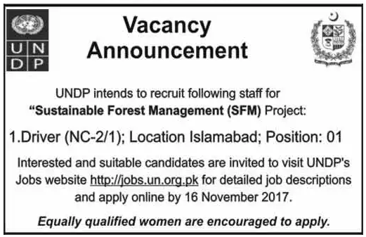 Undp jobs in pakistan