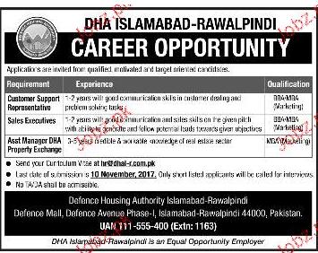 DHA Islamabad -Rawalpindi Jobs