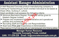Assistant Manager Administration Job Opportunity