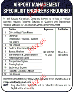 Chief Architects, HSE Engineers, Structural Engineers Wanted