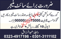 Site Manager Job Opportunity