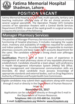 Fatima Memorial Hospital Jobs