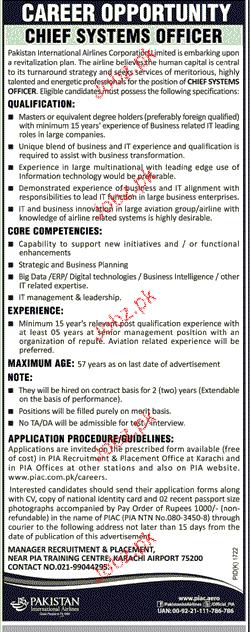 Pakistan International Airlines  PIA Jobs 2017