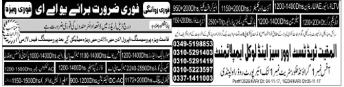 Security Guard, Office Boy & Driver Jobs at UAE 2017
