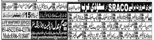 Saudi Arabia Jobs Opportunity 2017