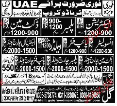 Electricians, Plumbers, Insolators Job Opportunity