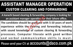 Assistant Manager Operations Job Opportunity