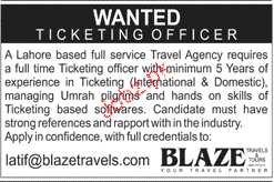 Ticketing Officers Job Opportunity
