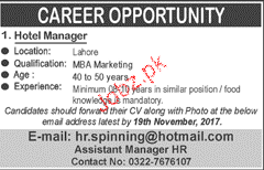 HOtel Manager Job Opportunity