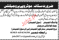 Civil Engineers, Planning Engineers Job Opportunity