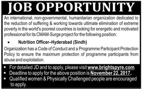 Bright Spyre NGO Jobs at Hyderabad 2017