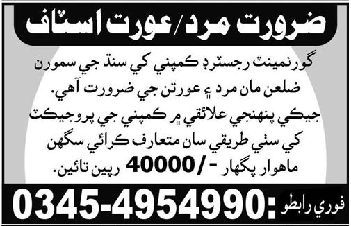 Male & Female Jobs in Hyderabad 2017