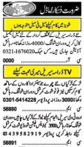 Models & Actor required at Lahore