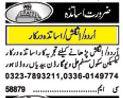 Teacher Jobs at Lahore 2017