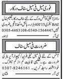 Call Operator & Telephone Operator Jobs 2017 Multan