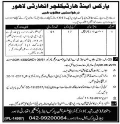 Parks & Horticulture Authority PHA Lahore Jobs