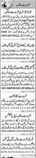 Miscellaneous Staff Required In Faisalabad