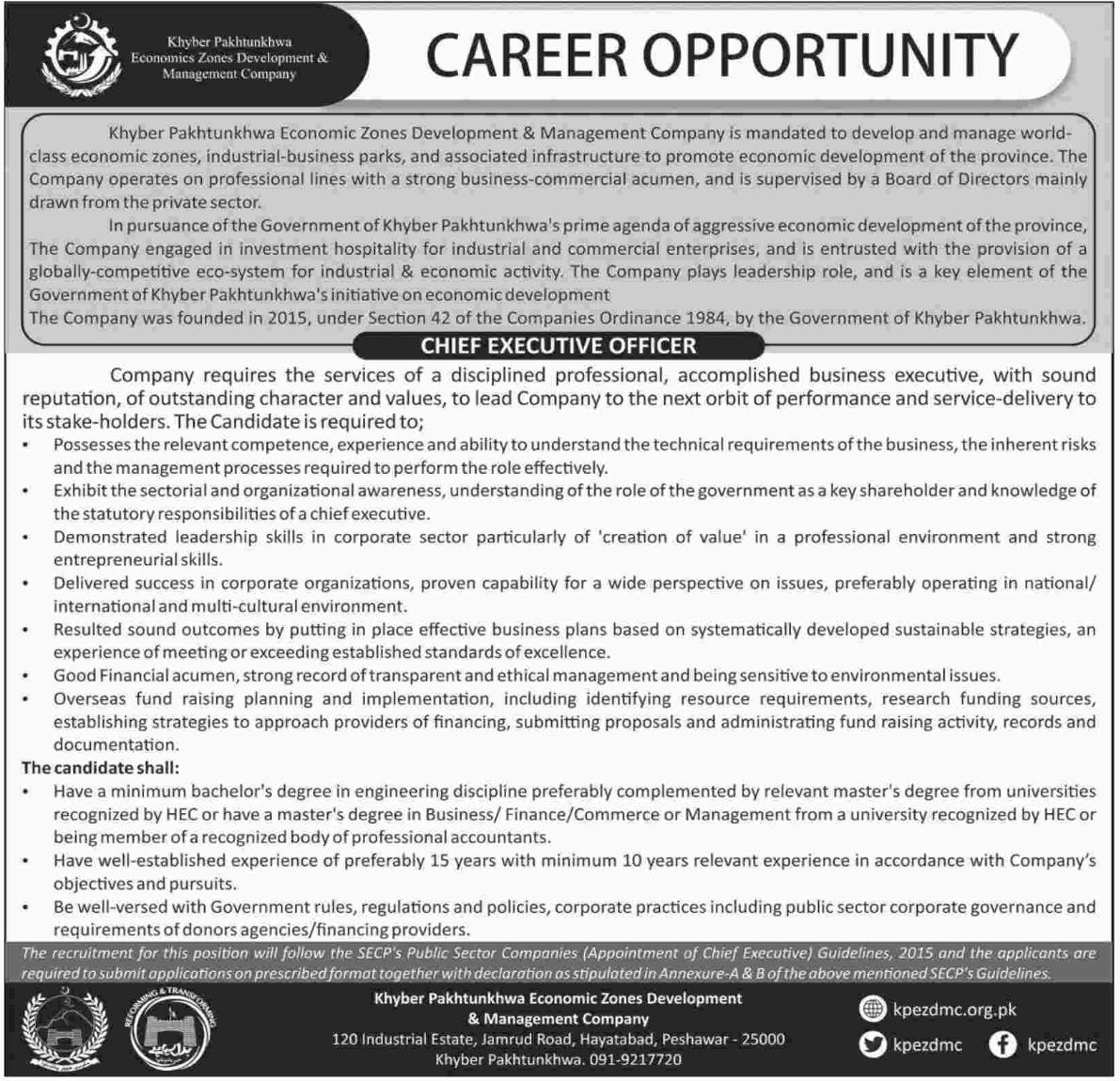 Economic Zones Development & Management Company Jobs