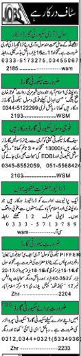 Security Staff Wanted For Islamabad