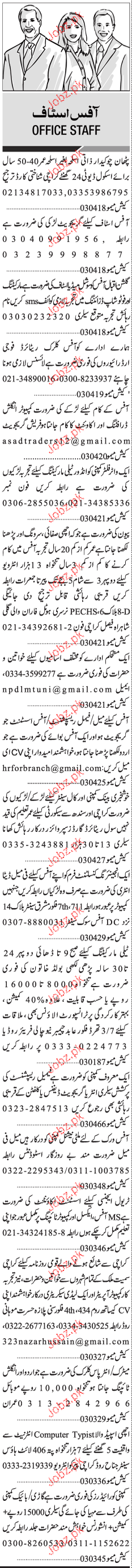 Office Clerks, Accountant, Marketing Staff Job Opportunity
