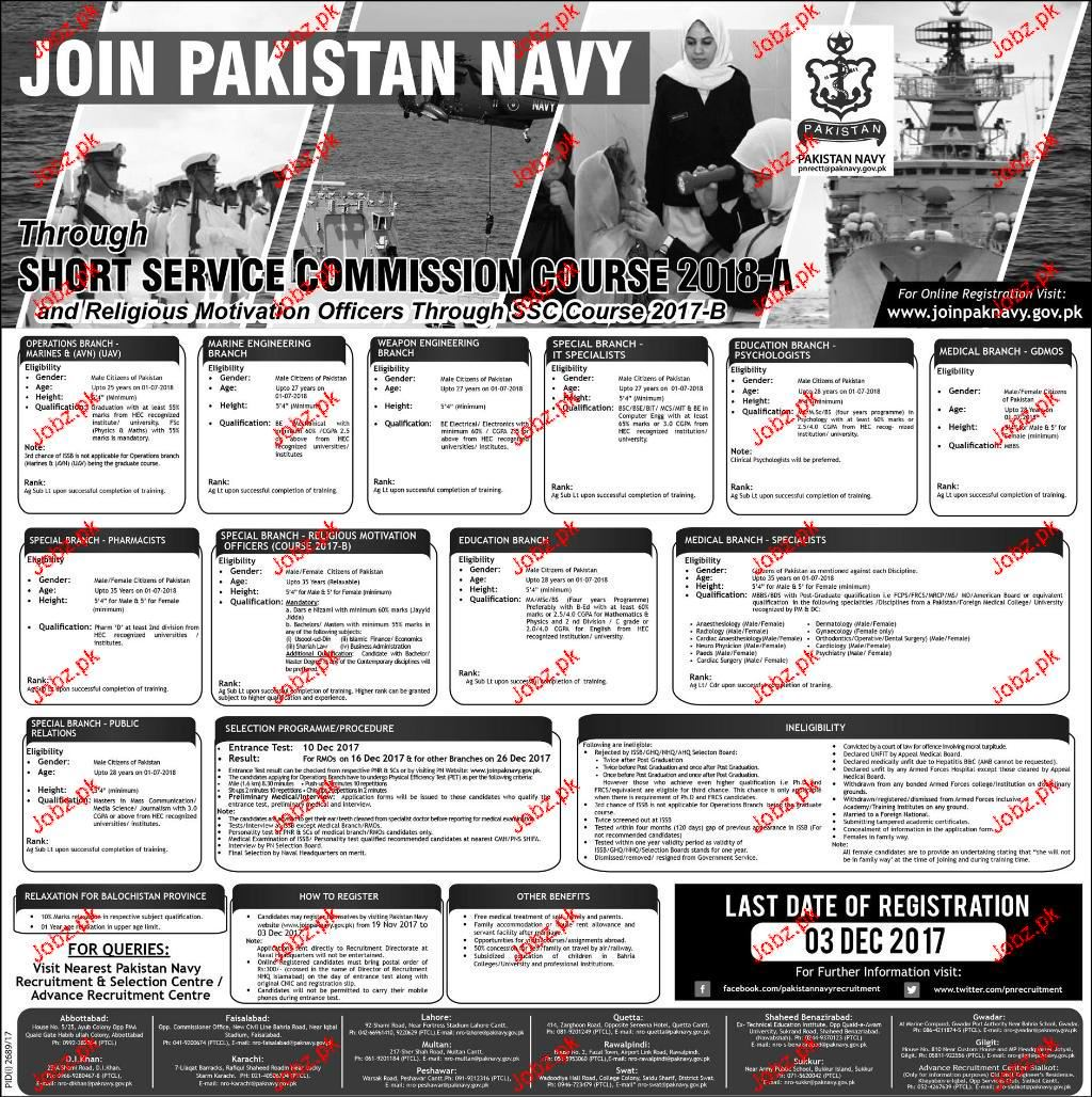 Join Pakistan Navy Through Short Service Commission