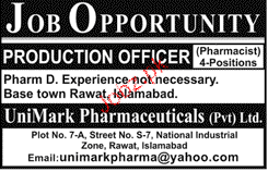 Production Officers Job Opportunity