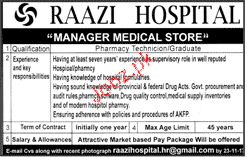 Manager Medical Store Job Opportunity