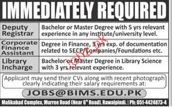 Deputy Registrar, Corporate Finance Assistants Wanted