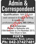 Admin Assistants and Correspondents job Opportunity