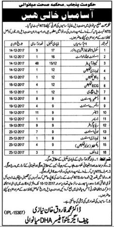 District Health Authority DHA Mianwali Jobs 2017