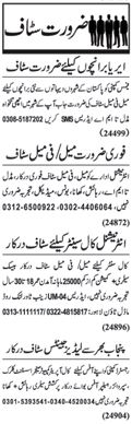 Miscellaneous Staff Wanted In Lahore, Punjab