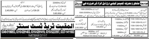 Drivers, Duct Man, Electrician, Plumber, Steel Fixer Jobs