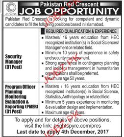 Pakistan Red Crescent Jobs