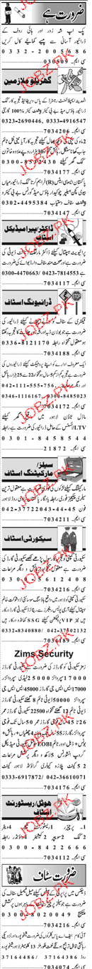cook, Drivers, House Maid, chawkidars Job Opportunity