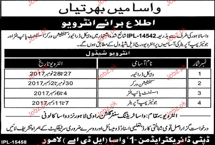 water and sanitation agency wasa lda jobs 2019 job