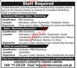 Assistant Manager Sales / Marketing Job Opportunity