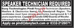 Speaker Technicians Job Opportunity
