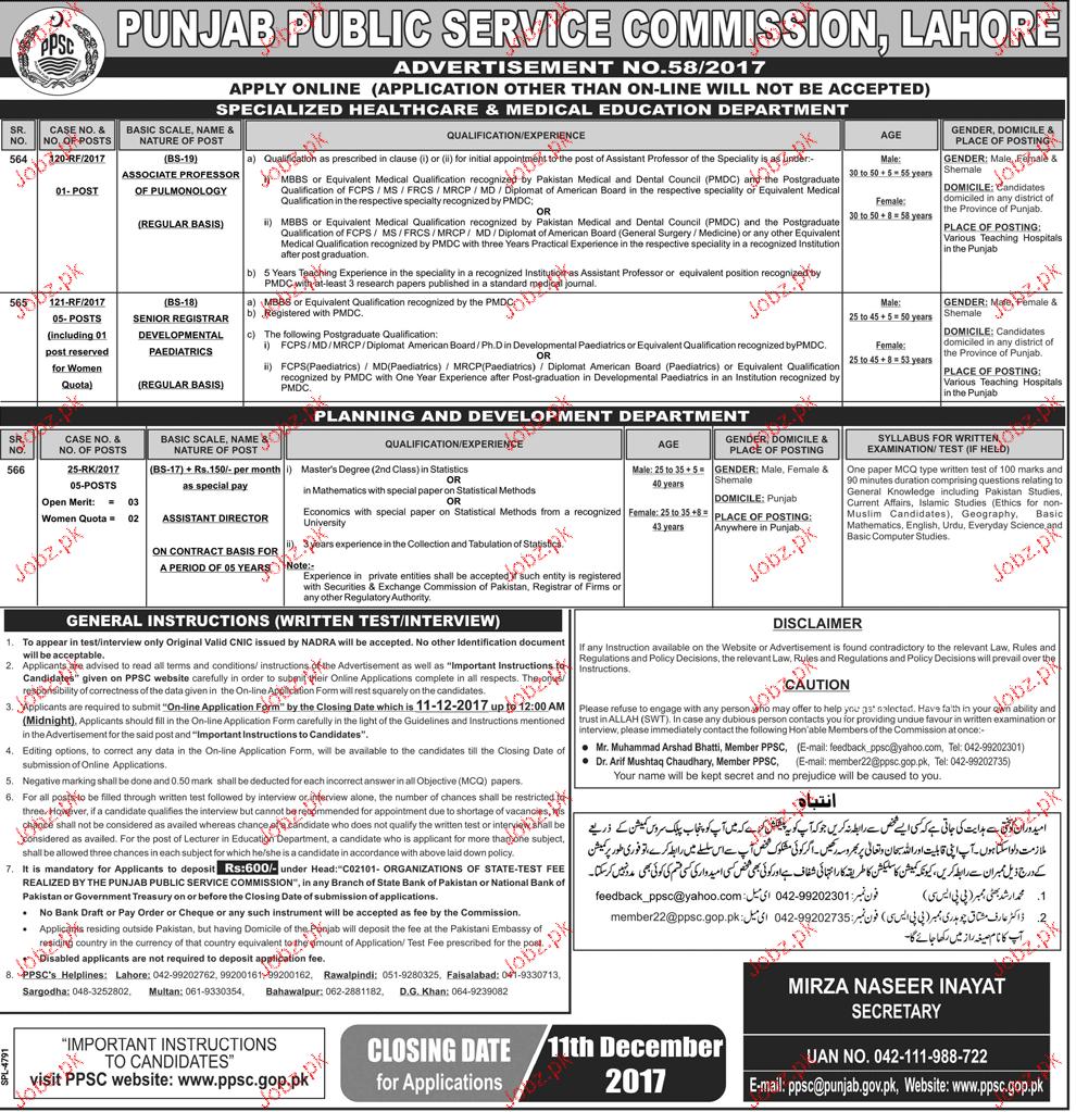 Punjab Public Service Commission PPSC Jobs