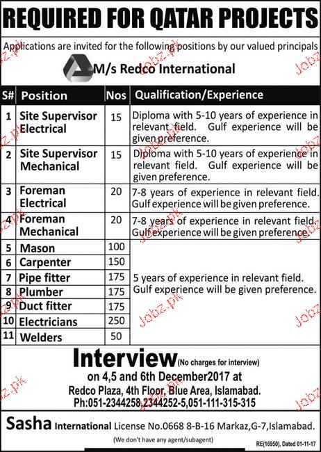 Site Supervisors Electrical Job Opportunity 2019 Job