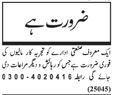 Gardner required in Lahore 2017