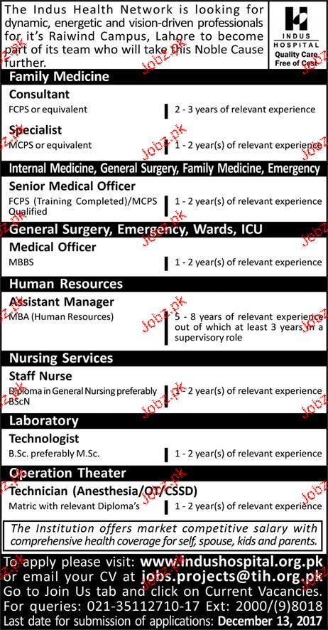 Consultant, Specialists, Senior Medical Officers Wanted
