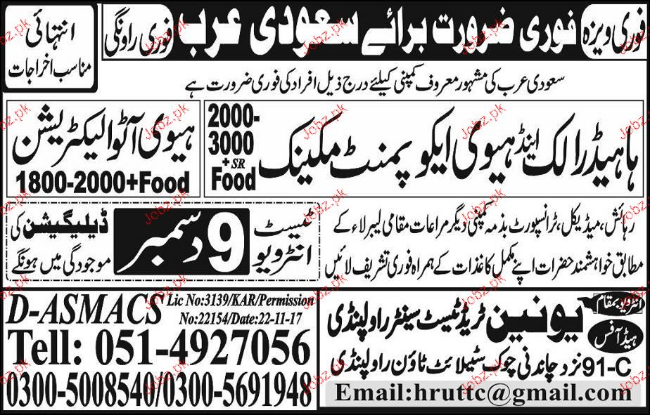 Heavy Auto Electricians and Hydraulic Mechanics Wanted